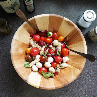 Beet Artichoke Caprese Salad
