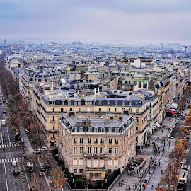 A Glimpse of Paris by Danny Hoang - City,  Street & Park  Street Scenes ( paris, instagram, arc de triomphe, views, street, france, view, nikon, photography, street photography )