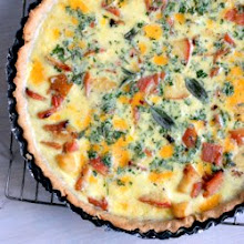 Photo: Apple Cheddar Quiche with Ham and Sage