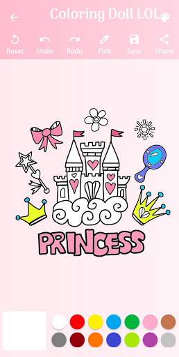 Coloring Doll Lol and Princess Little hack tool
