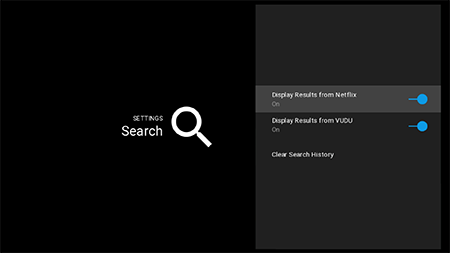 Adjust search settings on Google Fiber TV