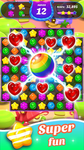 Gummy Candy Blast - Free Match 3 Puzzle Game screenshot 1