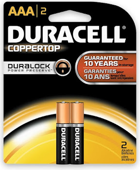 Duracell Coppertop AAA Alkaline Batteries - x2