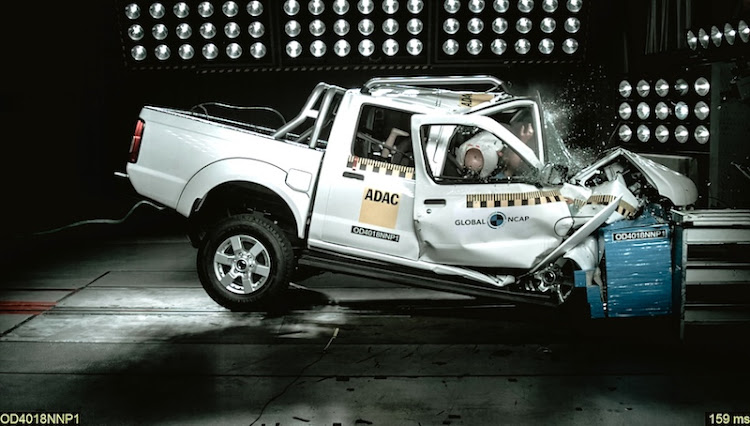 The Nissan NP300 Hardbody bakkie 'collapsed' in the standard impact test, leading to a zero-star rating.