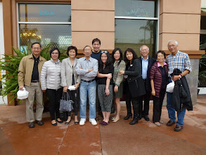Photo: In front of Lunasia. Ngan Liu & Jeannie, San Jig & Jane, Ah Mou & Carolyn & daughter Erin, Felix & Anna, Abe & Lucy