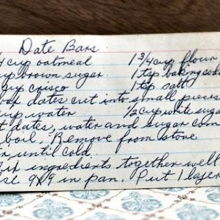 Date Bars.
