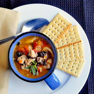 Turkey and Blackbean Soup.