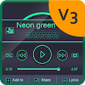 Neon green PlayerPro Skin icon