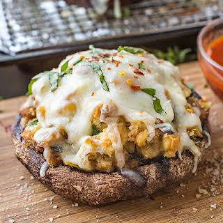 Pizza Stuffed Portobello Mushrooms.