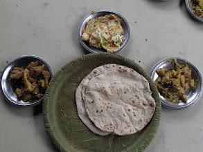Photo: Hand Sewn Leaf Covered Plate Baliguda Orissa