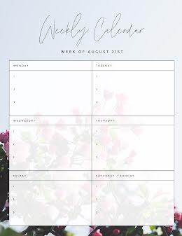 Weekly Calendar Blossoms - Weekly Planner item