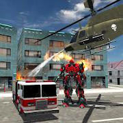 Real Robot Fire Truck:Fire Fighter Robot Transform