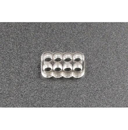 Kabelkam for 8 pins kabel, 2x4 Ø4mm hull, klar