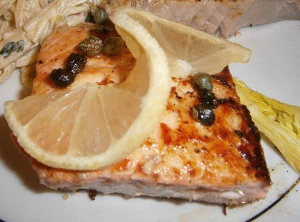 Pan Seared Salmon With Lemon And Capers