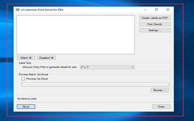 oCustomize.NET FBA FNSKU Printer Extension