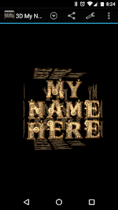 3D My Name Steampunk Fonts LWP screenshot 2
