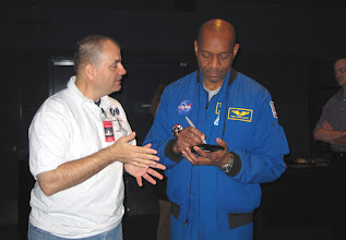 Photo: Don E.  @SFC_Don chatting with Dr. Bobby Satcher