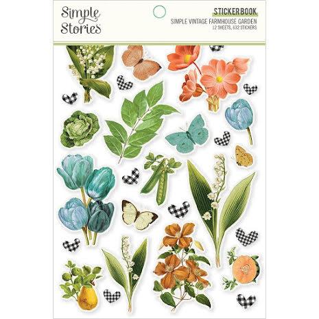 Simple Stories Sticker Book 4X6 12/Pkg - SV Farmhouse Garden