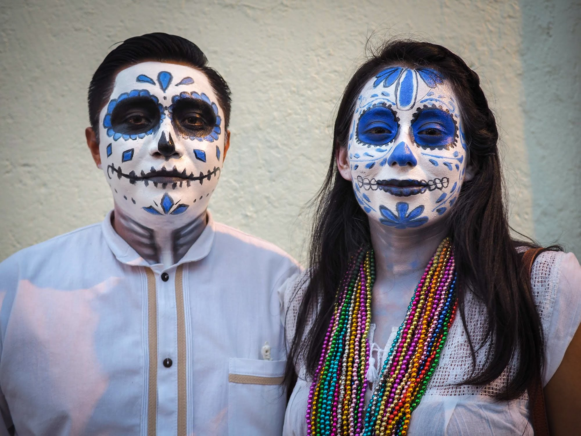 Painted faces. A common sight during Dia de Los Muertos celebration in Oaxaca.