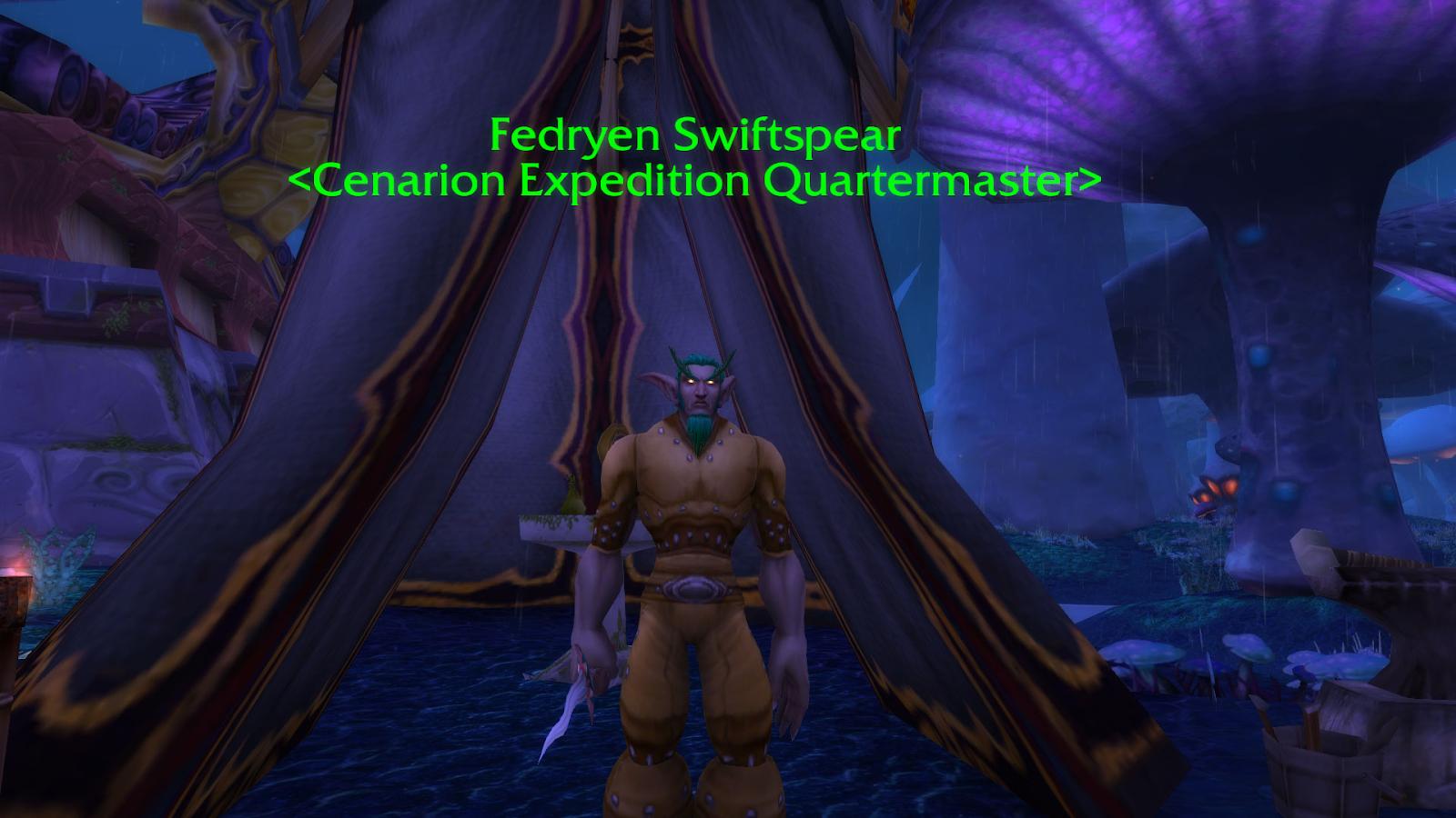 Fedryen Swiftspear who sells the Cenarion War Hippogryph