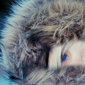 Winterface  by Kjell Kasin - People Portraits of Women ( winter, girl, woman, d610, nikon, portrait,  )