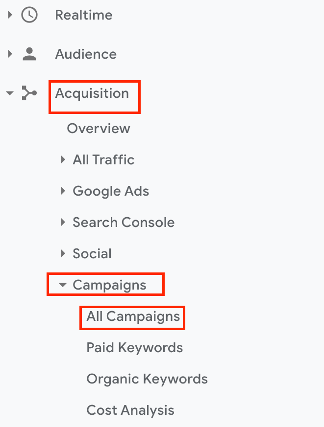 How to to find tagged URL data in Google Analytics for Webflow