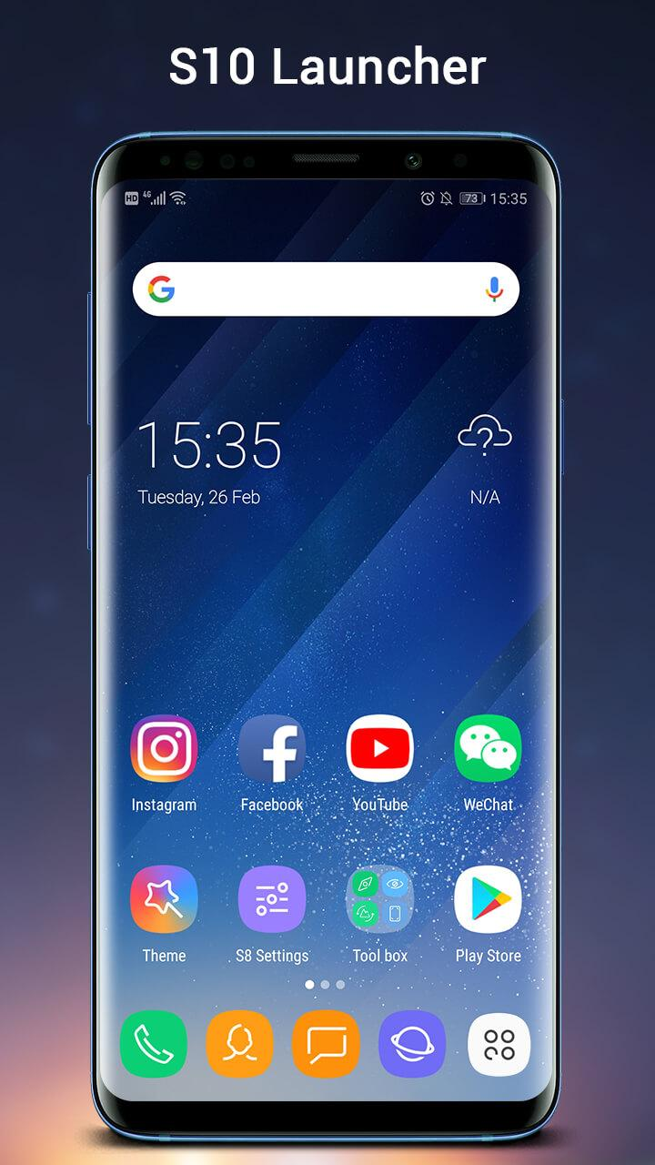 SO S10 Launcher for Galaxy S,  S10/S9/S8 Theme Screenshot 0