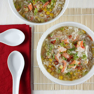 Asian Crab and Corn Soup.