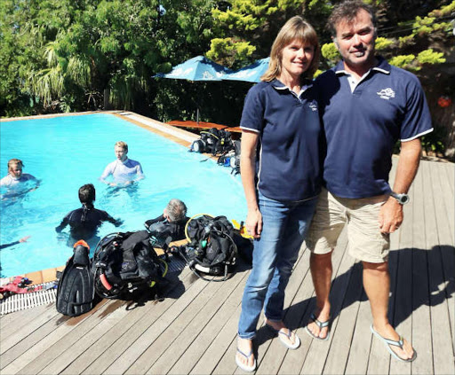 Pro Dive owners Michelle and Louis van Aardt