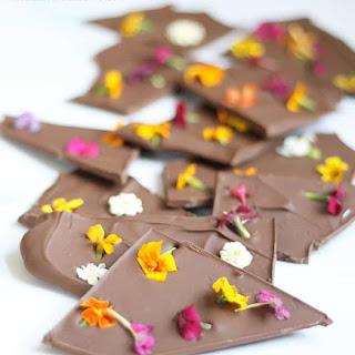 Edible Flower Chocolate Bark.