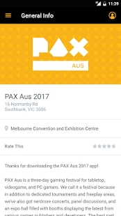 PAX Aus Mobile App- screenshot thumbnail