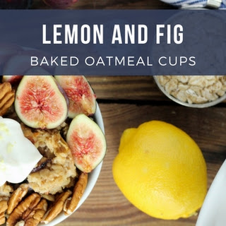 Lemon and Fig Baked Oatmeal Cups.