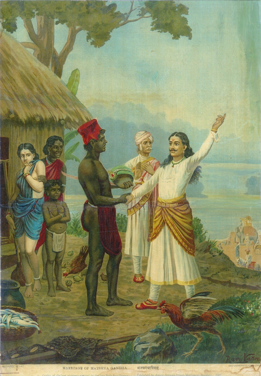 Marriage Of Matsyagandha Bhishma S Oath Ravi Varma Press Google Arts Culture