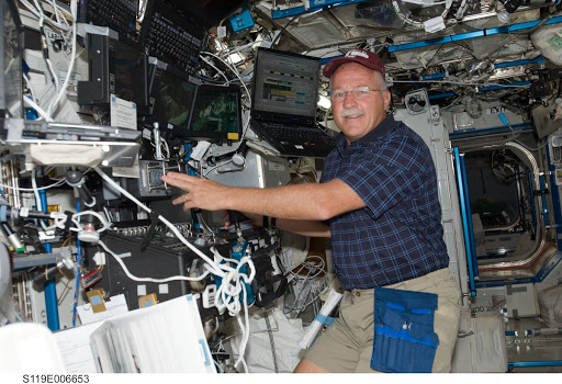 Phillips at Robotics Workstation (RWS) in support of STS-119 EVA 1