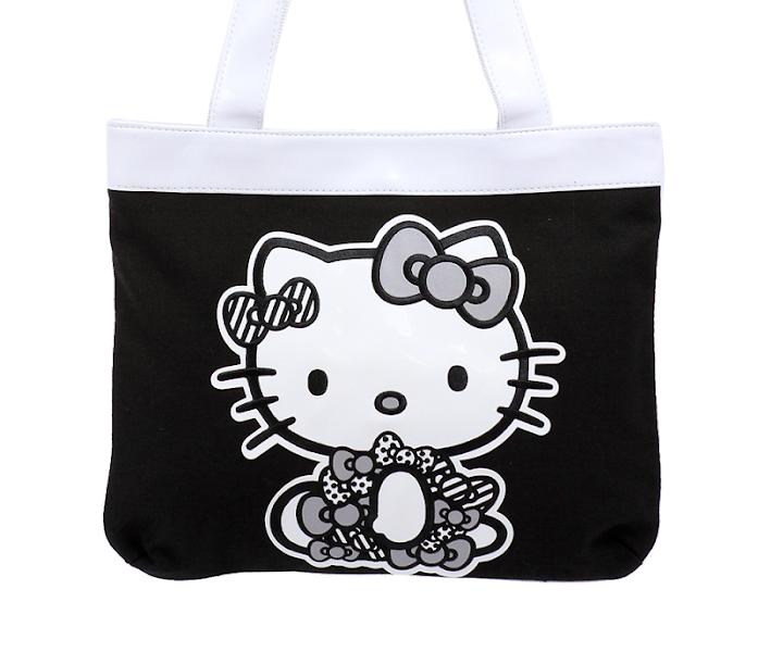 Photo: Hello Kitty Black Tote Bag: Monochrome http://bit.ly/M1CoGJ