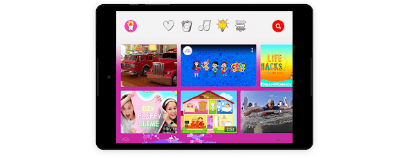 Het leergedeelte op een kindvriendelijke tablet