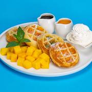 Mango Mochi Waffles