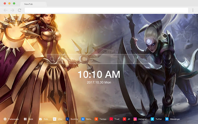 League of Legends New Tabs HD Games Themes