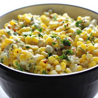 Spicy Mexican Street Corn Salad.