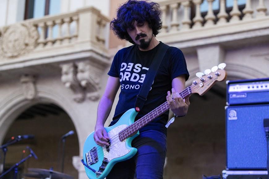 La banda almeriense Compro Oro en los conciertos de Cooltural Fest en la Plaza de la Constitución.