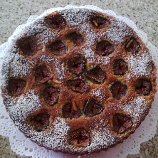 Roasted Fig And Almond Tart.