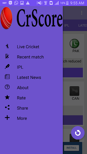 CricScore - Live cricket score 1.3 Windows u7528 5