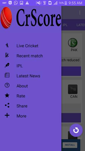 CricScore - Live cricket score 1.3 Windows u7528 5