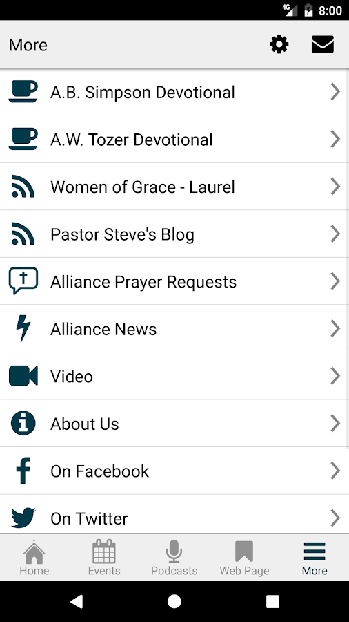 Curwensville Alliance Church- screenshot