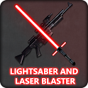 Blasters and lightsabers icon