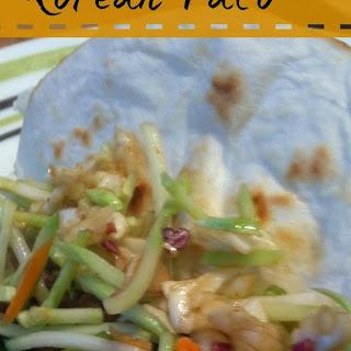 Korean Tacos with Asian Slaw (my way)
