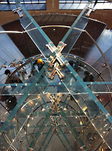 Photo: Apple Store X. Top down view of their glass staircase on W14th.