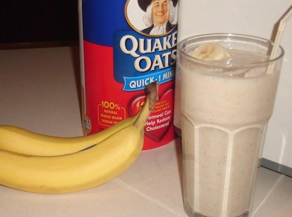Thick Banana Oatmeal Creamy Smoothie Recipe