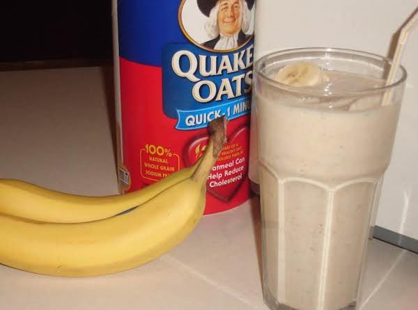 Thick Banana Oatmeal Creamy Smoothie Recipe