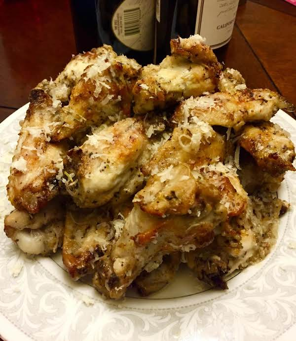 Baked Italian  Parmesan Wings By Noreen
